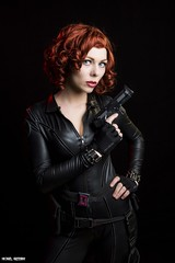 Widow Maker... (Ring of Fire Hot Sauce 1) Tags: cosplay blackwidow quirkygirlcosplay redhead avengers wondercon portrait