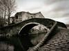 Hump-backed Bridge (Feldore) Tags: yorkshire old humpbacked canal shipley ancient medieval railway england english feldore mchugh em1 olympus 1240mm sepia traditional cobblestone