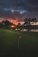 Harry putter (Mathulak) Tags: golf gujan mestras gujanmestras coucher soleil coucherdesoleil reflexion bluegreen