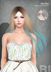 New Mayra hair @ Fantasy Faire 2018! (Wasabi // Hair Store) Tags: wasabipills 3d mesh hair secondlife imeka teefy izzies maitreya catwa insol kibitz buzzeri