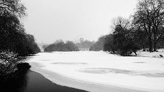 Frozen Lake in London (Elena on a journey) Tags: blackandwhite photography nofilters outdoor lake nature london snow