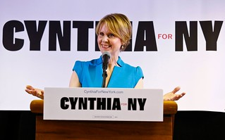 At first campaign rally, Cynthia Nixon says N.Y. governor isn't a 'real Democrat'