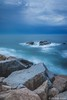 Brewing Storm_4993 (www.karltonhuberphotography.com) Tags: 2015 angry california californiacoast clouds danapoint grayday jettywall karltonhuber longexposure nature ocean offshorerocks pacificocean seascape sky southerncalifornia storm unsettled verticalimage waves weather