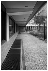Musical Instrument Museum (awbaganz) Tags: museum perspective architecture building diagonal lines berlin germany europe sonya7ii samyang samyang35mm 35mm fullframe monochrome bw noperson nopeople