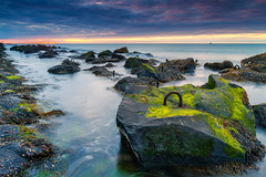 Green rocks @ the coast (Marcel Tuit | www.marceltuit.nl) Tags: 2013 7d canon eos hoekvanholland holland hookofholland landscape landschap me marceltuit nederland thenetherlands algae algen beach blocks blokken coast contactmarceltuitnl green groen kust langesluitertijd longexposure noordzee northsea sea seascape strand sunset water wwwmarceltuitnl zee zeewering zonsondergang