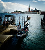 Venezia - Gondola (colour) (tjreboot) Tags: black white silhouette contrast venezia venice italy boat gondola people transport tradition folklore traditional light reflection gloom dark holiday holidays vacation