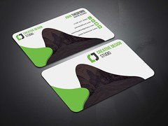 Creative-Business-Card-Green (MD SHUVO HOSSAIN) Tags: business card clean color colorful cool corporate creative divergent elegant minimal new personal print template professional proposal red shape studio stylish visiting