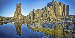 Bombo quarry panorama (explored) (Daniel Schwabe) Tags: rock quarry reflection water stone moon bombo kiama nsw australia travel tourism adventure