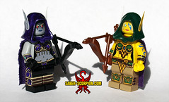 Sylvanas and Alleria Windrunner (Saber-Scorpion) Tags: lego minifig minifigures moc brickwarriors elf elves sylvanas alleria warcraft worldofwarcraft battleforazeroth windrunner forsaken banshee highelf highelves queldorei