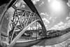 Tones of metal (iJavito) Tags: rio duero river urban blackandwhite bw arquitectura metal architecture puente viajar travellig portugal oporto porto brigde