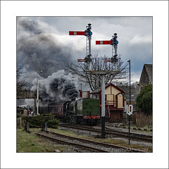Smoke is bad for you (prendergasttony) Tags: tonyprendergast steam smoke bridge transport railway locomotive power signal nikon d7200