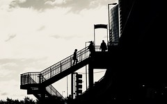 Chicago, 2015 (gregorywass) Tags: silhouette sunrise chicago columbus stairs stairway october 2015 street people sky