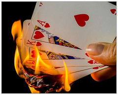 I get hot flushes (EddieAC) Tags: cards playing queen king jack ace ten fire suit flash