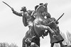 Monument to the First Cavalry Army, Rostov-on-Don, Russia (pihto_the_ded) Tags: чёрнобелое ростовнадону россия памятник blackandwhite rostovondon russia monument