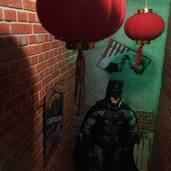 Gotham's Chinatown (MaxxieJames) Tags: batman dc dcu gotham barbie ken justice league mattel collector diorama ben affleck bruce wayne