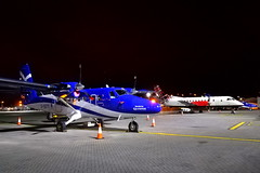 Loganair Line-up (Fraser Murdoch) Tags: glasgow international airport egpf gla aviation aircraft plane fraser murdoch photography loganair gsgts ghial glgnb log lm lg twin otter saab 340 night nightstop tartan saltire livery scotland scottish huawei p8 lite 2017 2018