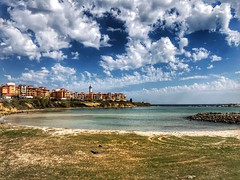 Beach view of Aheloy, Bulgaria (nenos_79) Tags: clouds sky beachview iphonephotography beach seaside seaview sea blacksea nature landscape bulgaria aheloy