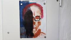 what's going on (raumoberbayern) Tags: sketchbook skizzenbuch robbbilder acrylic acryl painting portrait dina2 self