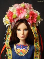 A-Z Challenge 2.0: H - Headshot (Mary (Mária)) Tags: barbie barbiebasic toys doll dollphotography folk headshot headband flower flowerheadband slovakia azchallenge challenge louboutin village dollphotographer dollcollector dollsoftheworld handmade marykorcek