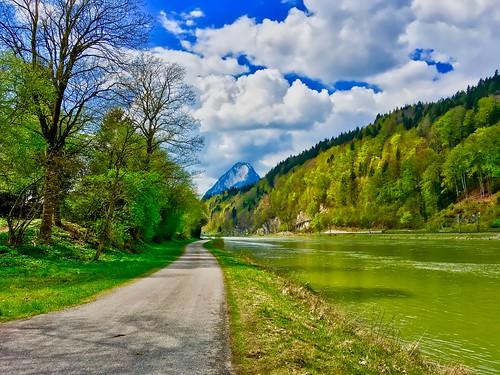 River inn with Pendling mountain, Tyrol, Austria
