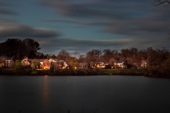 Every sunset is an opportunity to reset... (Just lovin' it) Tags: village neighborhood lake longexposure