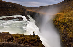 F R E E (FredConcha) Tags: freedom free iceland godafoss alone waterfall fredconcha landscape nature sky cliffs nikon d800 goldwaterfall rocks danger live