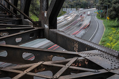 Auburn, CA (dauphinaisj92) Tags: train bridge movement slow longexposure leadinglines auburn ca california rainy