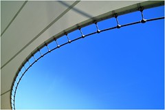 la curva (Photo Luc@) Tags: curva geometrie colore canon blu bianco