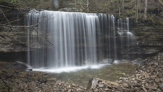 Rhodamine dye injection above Ranger Falls [Time lapse], Ranger Creek, South Cumberland State Park, Grundy County, Tennessee