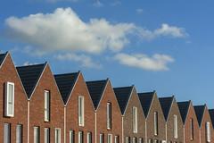 Nine houses (Jan van der Wolf) Tags: map183130v houses huizen herhaling sky nine negen repetition clouds wolken