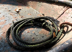 [-] (pienw) Tags: rope rust rusty abndaoned