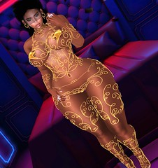 It's Golden (Sultry ALLURE) Tags: chantelsatine chantel sultryallure avatar gold lic alluring secondlife sl style slink hourglass hair bento besom yummyaccessories gd claws blog blogger