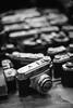 Camera's (PaulHoo) Tags: film analog 35mm olympus om1 kodak monochrome blackandwhite gas camera product studio display nostalgia vintage
