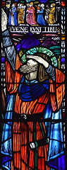 Prophet Isaiah (Margaret Agnes Rope for East Bergholt Convent, Suffolk, 1928) (Simon_K) Tags: kesgrave holy family ipswich suffolk eastanglia rc roman catholic rope artist stained glass windows diocese airship memory memorial