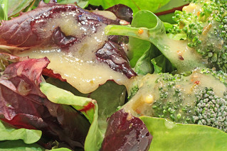 Salad with French dressing