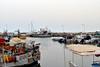 DSC_1765 (mikebsnaps) Tags: summer coast port beach fisherman net tent greece athens nikon glyfada d5500