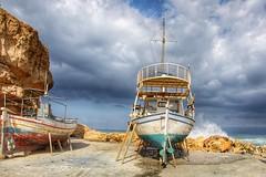 Dry Dock. (joseph_donnelly) Tags: water clouds sky griechenland greece waves wet sea boats boat kreta crete