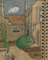 Lodge-memgarden2 (Alextree) Tags: rspb thelodge chimneys urban urbansketchers memorial garden