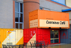 Container Cafe (Tony Worrall) Tags: capture outside outdoors caught photo shoot shot picture captured york yorkshire cafe container color colours quirky box boxes inside outdoor national railway museum nationalrailwaymuseum britain english british gb buy stock sell sale england regional region area northern uk update place location north visit county attraction open stream tour country