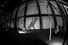 Tate Modern (Cath Dupuy) Tags: tate tatemodern installation monochrome blackandwhite swings turbinehall art gallery london thames thameside southbank silhouettes lighting dark fisheye fisheyelenswidewideangle shadows