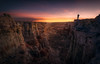 Standing at the Edge (mattymeis) Tags: arizona canyon southwest desert navajo nikon rrs fstop matt meisenheimer sunrise person light