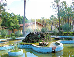 Garden in Palermo, Sicily. (Country Girl 76) Tags: garden exotic palermo sicily island italy plants flowers fountain water trees