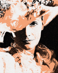 Greta Garbo (Bob Smerecki) Tags: smackman snapnpiks robert bob smerecki sports art digital artwork paintings illustrations graphics oils pastels pencil sketchings drawings virtual painter 6 watercolors smart photo editor colorization akvis sketch drawing concept designs gmx photopainter 28 draw hollywood walk fame high contrast images movie stars signatures autographs portraits people celebrities vintage today metamorphasis 002 abstract melting canvas baseball cards picture collage jixipix fauvism infrared photography colors negative color palette seeds university michigan football ncaa mosaic