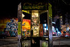 Phone Box in Stokes Croft, Bristol, UK (KSAG Photography) Tags: phone phonebox street streetphotography urban city graffiti art bristol uk unitedkingdom england europe britain hdr nikon 35mm wideangle march 2018
