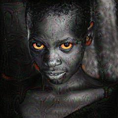 Beautiful black girl (cirooduber) Tags: visualart ostagram awardtree digitalarttaiwan trollieexcellence native africa girl