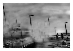 one degree minus (christikren) Tags: bridge blackwhite vienna view austria christikren downtown fantasy grey linescurves monochrome panasonic photography people sw wien winter 2018 experiment cold frost blurred misty noiretblanc urban light abstract