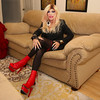 Cortney - Blonde in Black and Red with extreme stiletto nails (Cortney10100) Tags: cortney anderson blonde dress tv tg tgirl tgurl transgender heels highheels femme tranny trannie transsexual transvestite crossdress crossdresser stilettos thigh nails people portrait red black