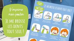 J'imprime mon poster : Je me brosse les dents tout seul ! (HopToys) Tags: on continue de vous proposer des posters la vie quotidienne avec ce visuel « étapes par » pour bien se brosser les dents pouvoir l'utiliser dans salle bain je conseille le plastifier découvrez station créative xyron