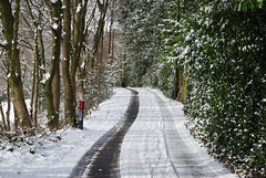 Tracks into the valley (Halliwell_Michael ## Offline mostlyl ##) Tags: brighouse hoveedge westyorkshire nikond40x 2018 winter redbeckvalley trees roads road snow tracks landscapes saariysqualitypictures