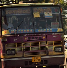 Approaching bus (victoriaei) Tags: india asia darjeelingdistrict dooars gorkhaland autumn october 2016 outdoors northeast nikon d5300 bus painting